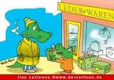 Krokodile Cartoon Bild gratis