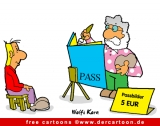 Pass Cartoon - Lustige Cartoon-Bilder für Büro