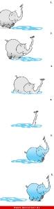 Elefant Comic Strip free