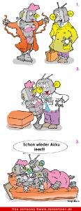 Roboter-Liebe Cartoon kostenlos