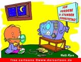 Cartoon Kind und Computer - kostenlose Cartoons online