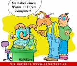 Computerwurm - Computer Karikaturen