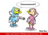 Roboter Cartoon-Bild kostenlos
