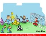 Fußball Bild-Cartoon JPG