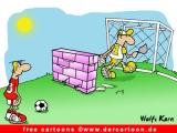 Fussball Cartoon gratis - Fussball Witz kostenlos