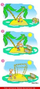 Insel Cartoon free - Witze Urlaub kostenlos