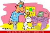 Computermaus und Katze Karikatur kostenlos