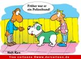 Polizeihund Bild-Cartoon kostenlos
