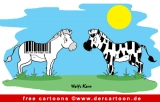 Zebra Cartoon - Zoo Cartoons gratis