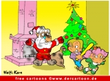 Kamin Cartoon - Weihnachten Cartoons free