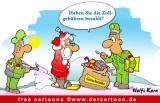 Weihnachten Cartoon Zoll und Weihnachtsmann